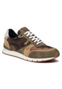 Sneakersy QUAZI - QZ-64-06-001066 687. Kolor: zielony. Materiał: zamsz, materiał, skóra. Szerokość cholewki: normalna