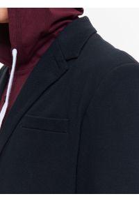 TOP SECRET - Marynarka męska z dzianiny strukturalnej o regularnym kroju. Okazja: na co dzień. Kolor: niebieski. Materiał: dzianina. Wzór: ze splotem. Styl: klasyczny, casual #2