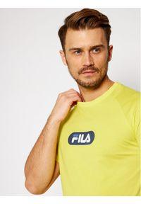 Żółty t-shirt Fila raglanowy rękaw