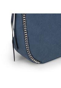 Niebieska torebka worek Wittchen elegancka, z aplikacjami