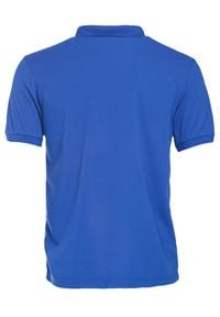 Born2be - Niebieska Koszulka Gladdening. Typ kołnierza: polo. Kolor: niebieski. Materiał: dzianina. Długość rękawa: krótki rękaw. Długość: krótkie. Wzór: gładki #5