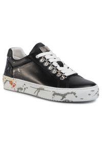 Czarne sneakersy GOE z cholewką, na płaskiej podeszwie