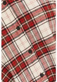 Czerwona koszula Answear Lab długa, z klasycznym kołnierzykiem