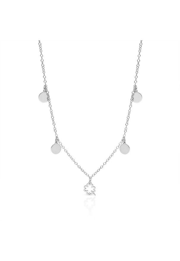 W.KRUK Naszyjnik - srebro 925 - SMN/NS161. Materiał: srebrne. Wzór: ażurowy, aplikacja