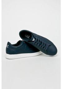EA7 Emporio Armani - Buty. Nosek buta: okrągły. Zapięcie: sznurówki. Kolor: niebieski. Materiał: guma. Szerokość cholewki: normalna