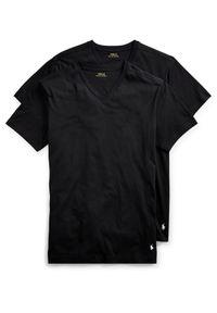 Ralph Lauren - RALPH LAUREN - T-Shirt 2-Pack. Okazja: na co dzień. Typ kołnierza: polo. Kolor: czarny. Materiał: dresówka, prążkowany, bawełna. Wzór: haft. Styl: casual, klasyczny #3