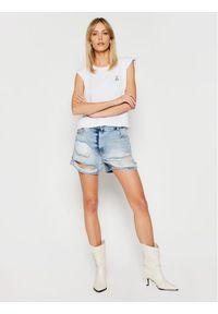 Niebieskie szorty jeansowe Patrizia Pepe