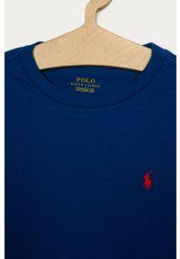 Niebieska koszulka z długim rękawem Polo Ralph Lauren na co dzień, casualowa