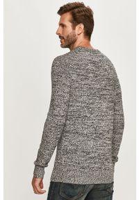 Czarny sweter Calvin Klein Jeans długi, z aplikacjami, z okrągłym kołnierzem