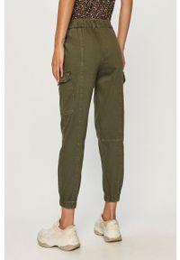 Zielone spodnie materiałowe TALLY WEIJL z podwyższonym stanem