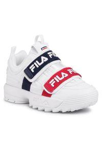 Białe buty sportowe Fila