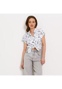 Mohito - Wiskozowa koszula Eco Aware - Biały. Kolor: biały. Materiał: wiskoza
