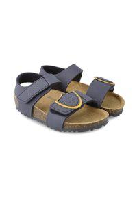Niebieskie sandały Garvalin na rzepy