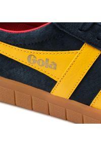 Gola - Sneakersy GOLA - Hurricane Suede CMB046 Navy/Sun/Deep Red/Gum. Okazja: na co dzień, na spacer. Kolor: niebieski. Materiał: zamsz. Szerokość cholewki: normalna. Styl: casual, sportowy