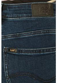 Niebieskie jeansy bootcut Lee z podwyższonym stanem