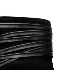 Czarne botki Eva Longoria na obcasie, na średnim obcasie