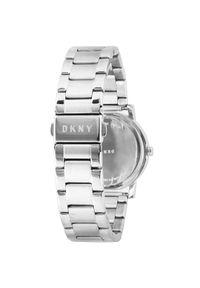 Srebrny zegarek DKNY klasyczny