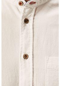 Biała koszula Blend na co dzień, ze stójką, casualowa, długa