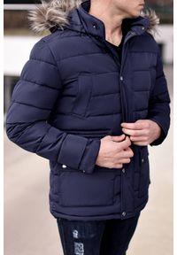 Niebieski płaszcz IVET na jesień