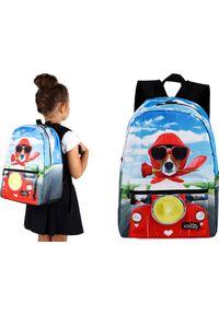 Cogio Kids Italy Plecak szkolny 5035AM niebieski. Kolor: niebieski