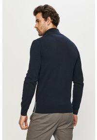 Niebieska bluza rozpinana Lacoste gładkie, na co dzień, bez kaptura, casualowa