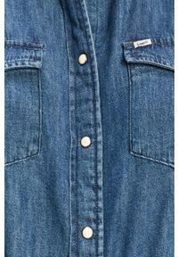 Niebieska koszula Lee gładkie, długa