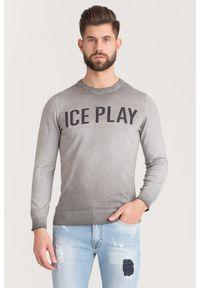 Sweter Ice Play z okrągłym kołnierzem, w kolorowe wzory