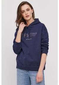 Pepe Jeans - Bluza bawełniana Adele. Kolor: niebieski. Materiał: bawełna. Wzór: nadruk