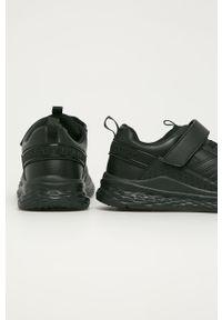 Czarne buty sportowe TOMMY HILFIGER z cholewką, z okrągłym noskiem, na rzepy