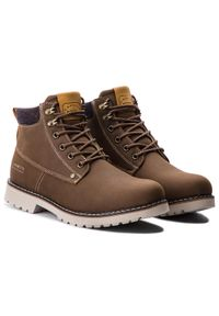 Brązowe buty zimowe Lanetti klasyczne, z cholewką