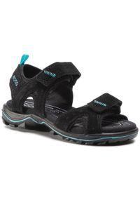 Czarne sandały ecco na lato