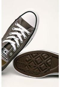 Szare tenisówki Converse z cholewką, na obcasie, na średnim obcasie, z okrągłym noskiem