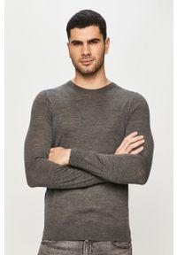 Szary sweter Hugo casualowy, na co dzień, melanż