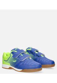 Casu - niebieskie buty sportowe halówki na rzepy casu a1601b-3. Zapięcie: rzepy. Kolor: niebieski, zielony, wielokolorowy