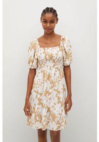 Sukienka mango mini, na co dzień, prosta, w kwiaty