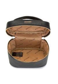 Wittchen - Damska kosmetyczka kuferek mała. Kolor: czarny. Materiał: skóra ekologiczna. Wzór: aplikacja, kolorowy
