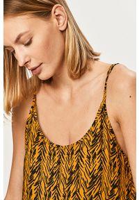 Żółta sukienka Noisy may z okrągłym kołnierzem, na co dzień, na ramiączkach, maxi #6