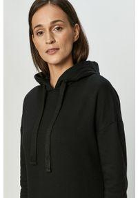 Czarna sukienka 4f z kapturem, na co dzień, casualowa