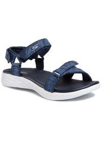Niebieskie sandały skechers na co dzień, casualowe