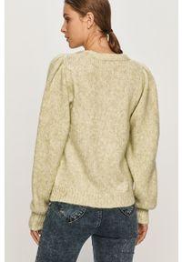 Zielony sweter rozpinany only na co dzień, casualowy