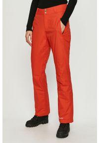 Pomarańczowe spodnie sportowe columbia snowboardowe