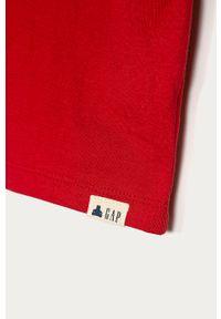 Czerwona koszulka z długim rękawem GAP casualowa, na co dzień