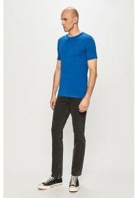 Jack & Jones - T-shirt. Okazja: na co dzień. Kolor: niebieski. Materiał: dzianina, bawełna. Wzór: gładki. Styl: casual #2