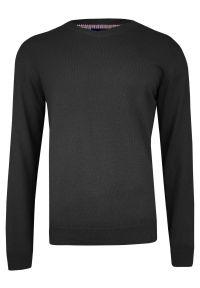 Szary sweter Adriano Guinari klasyczny, z dekoltem w serek, na spotkanie biznesowe