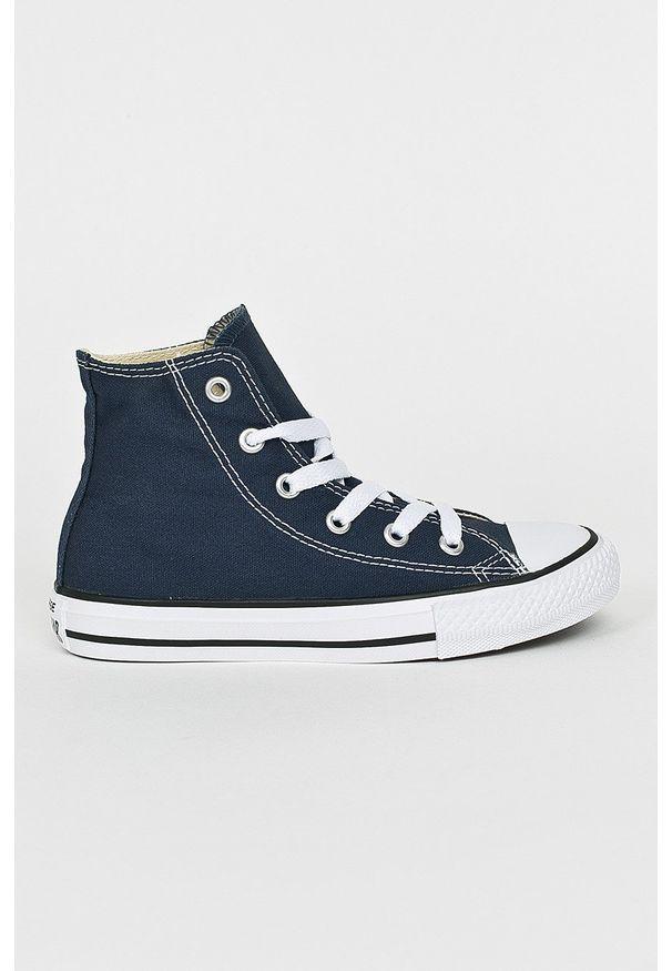 Niebieskie trampki Converse z cholewką, z okrągłym noskiem