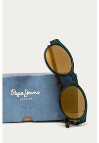 Czarne okulary przeciwsłoneczne Pepe Jeans okrągłe