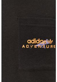 adidas Originals - T-shirt. Okazja: na co dzień. Kolor: czarny. Wzór: nadruk. Styl: casual