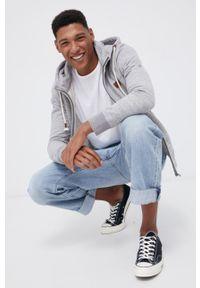 Premium by Jack&Jones - Bluza bawełniana. Okazja: na co dzień. Kolor: szary. Materiał: bawełna. Styl: casual