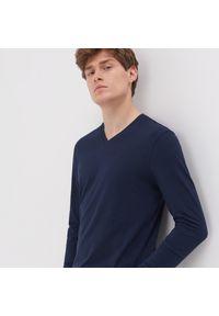 Niebieski t-shirt Sinsay z długim rękawem, długi
