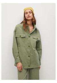 Zielona kurtka przejściowa mango
